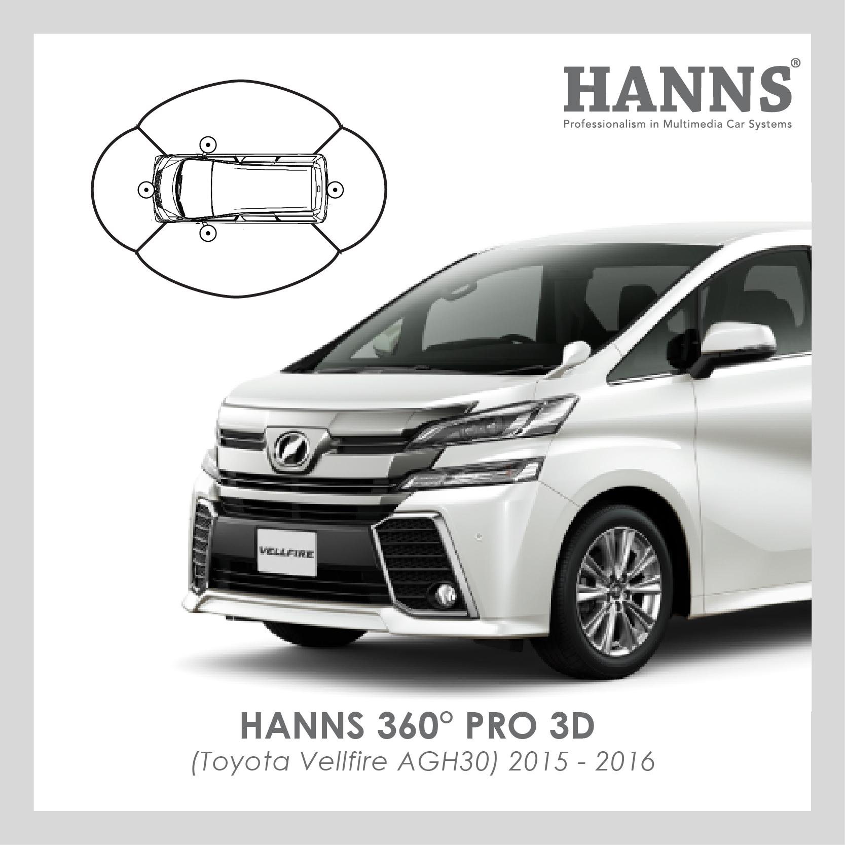 Hanns 360° Pro 3D for Toyota Vellfire (2015-2016)